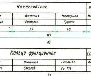 Основная учебная надпись чертежа – 3. , [1988 .. — (