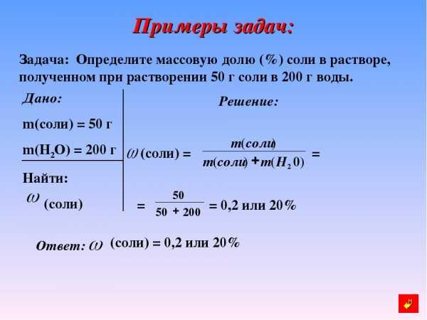 Задачи и решения по не органической химии решения задач на деления