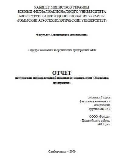Отчет по практике бухгалтера магистратура 1106