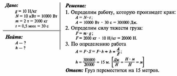 Задача на сухопутное движение с решением примеры решения задач по основе термодинамики